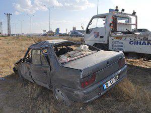 Konyada otomobil devrildi: 5 yaralı
