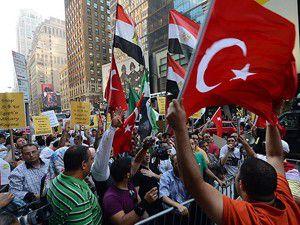 Mısırdaki katliam New Yorkta protesto edildi