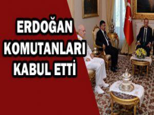 Komutanlardan Erdoğana veda