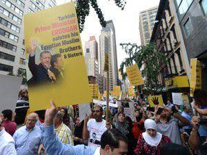 New Yorkta katliamları protesto ettiler