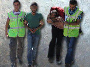 Adliyeye sevk edilen iki zanlı tutuklandı