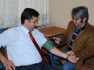 Kan bağışı kampanyasına destek