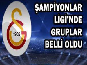 İşte Galatasarayın grubu !