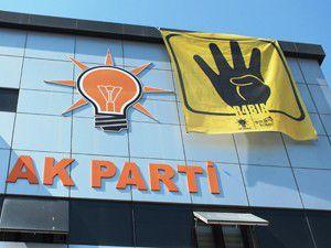 AK Partiden Mısıra destek pankartı