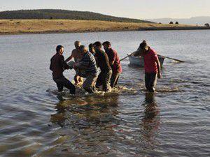 Konyada 2 kişi gölde boğuldu
