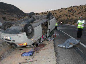 Konyada trafik kazası 1 ölü 5 yaralı