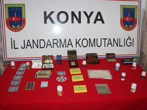 Konyada uyuşturucu operasyonu 8 gözaltı