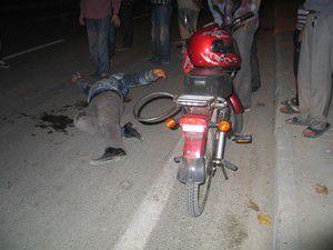 Polisten kaçarken motosikletten düştü
