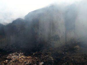 Akşehirde yangın