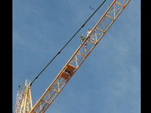 Konya da inşaat işçileri eylem yaptı