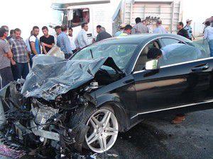 Konyada otomobille tır çarpıştı: 4 yaralı