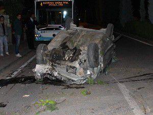 Konyada 3 otomobil çarpıştı 6 yaralı