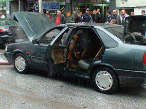 Konya Ereğlide otomobil yangını