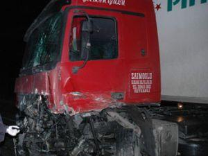 Tır kamyonet bir birine girdi; 2 ölü
