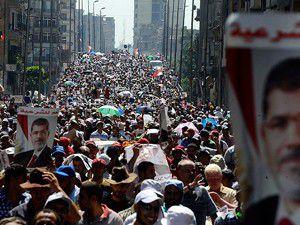 """Mısırda """"Şehit Bayramı"""" yürüyüşü"""