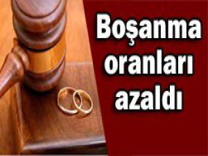Boşanma sayısı ilk kez düştü