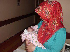 Bebek anjiyo ile ameliyattan kurtuldu