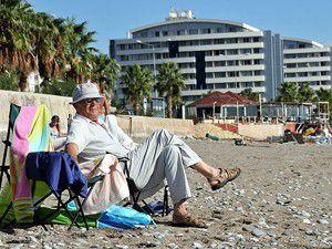 Şiddetli yağışın ardından sahiller yine doldu