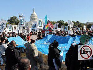 Washingtonda Bizi İzlemeyi Durdurun yürüyüşü