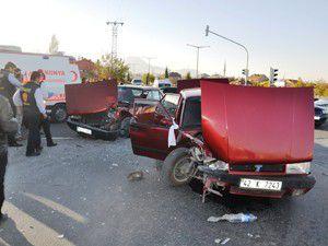 Konyada düğün konvoyunda kaza: 7 yaralı