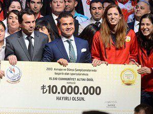 2013 yılının başarılı sporcularına ödül