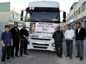 İHH-AYDER Suriyeye 54üncü yardım tırını gönderdi