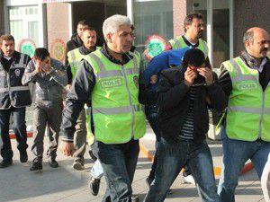 Konyada şafak operasyonu 20 gözaltı