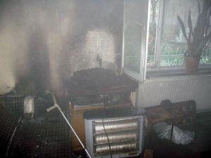 Evde maddi hasar meydana geldi