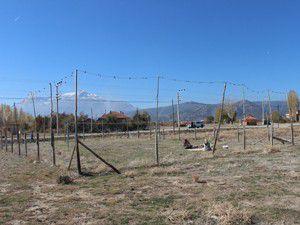 Atık ağlardan voleybol sahası