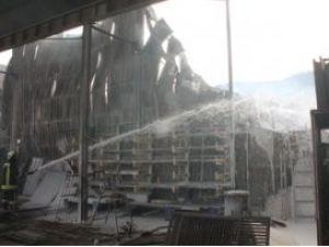 Konyada sanayi bölgesinde yangın