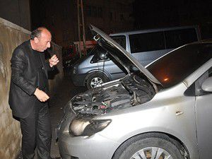 CHP İl Başkanının aracı kundaklandı