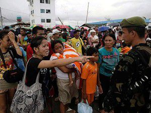 Tayfunun vurduğu Taclobandan kaçış