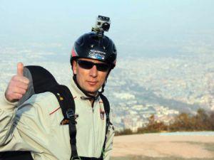 Yamaç paraşütüyle Eskişehirden Konyaya yolculuk