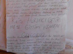 Hırsızlık şüphelisini bıraktığı not ele verdi