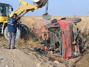 Konyada trafik kazası 1 ölü 1 yaralı