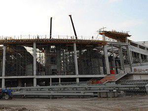 Brezilyada stadyum inşaatı çöktü