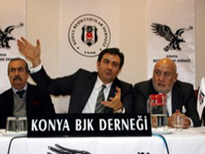 BJK başkan adayı Aksu Konya ya geldi