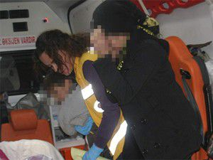 Genç kadını araca bindirip dövdüler
