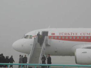 Başbakan sis nedeniyle Konyadan geç ayrıldı