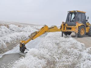 Konyada Cihanbeyli göleti buz tuttu