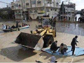 TİKAnın jeneratörleri, Gazzedeki taşkın sularını tahliye edecek