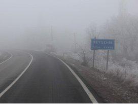 Beyşehir yeni yıla sisli girdi