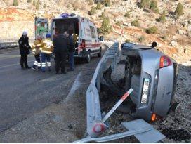 Seydişehirde trafik kazası 1 yaralı