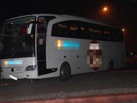 Konyada otobüs kazası 2 yaralı