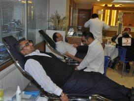 Meram Belediyesi çalışanlarından kan bağışı