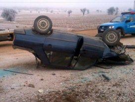 Konyada otomobil devrildi 1 yaralı
