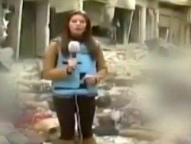 Gazetecilik ayıbı! Cesetlerin arasında haber yaptı