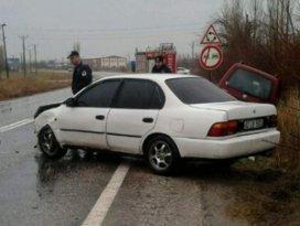 Konyada trafik kazası 1 yaralı