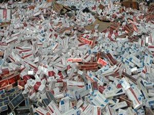 Ereğlide 6 bin 160 paket kaçak sigara ele geçirildi