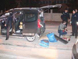 Konyada polis-şüpheli kovalamacası